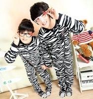 Wholesale Popular All in one Zabra Pajamas Sleepsuit Sleepwear Pyjamas Onesie With Footed For Lovers