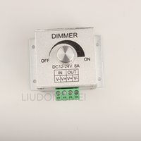 Wholesale Top selling LED Dimmer Switch Aluminum Alloy Adjustable Brightness Controller DC V V A One Channel Dimmers