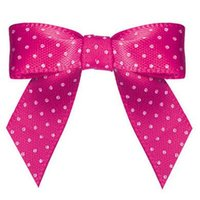 Wholesale 600pcs Pre pink colour satin Ribbon Gift Package Bow with Twist Tie DHL