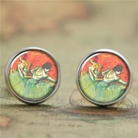 ballerina earrings - 10pairs Degas Ballerina earring dancing with Honorable movements earring Print Photo French Jewelry earring