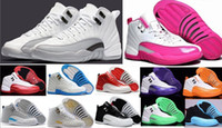 Wholesale 2016 cheap basketball shoes air retro women man TAXI Playoff ovo white Gray Black Gym barons cherry RED Flu Game Sport Sneaker Boots