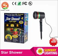 Wholesale High Quality New Hot STAR SHOWER LASER LIGHT By Bulb Head RED GREEN INDOOR OUTDOOR CHRISTMAS LIGHTS