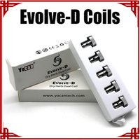 big e pack - big sale Authentic Yocan Evolve D Coil Dry Herb Dual Coil Replacement Coils For Yocan Evolve D pack E Cigarette Coils