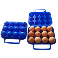 Wholesale Outdoor gear breakage proof egg plastic box contains open air picnic camping portable egg storage case