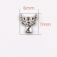 angles numbers - 20pcs Wing Angle Charms Zinc Alloy Floating charms for locket Pendant