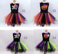 baby costum - 2016 Girl s Halloween Costum set Baby Girl Skull Applique Flower Bow T shirt with Tutu Tulle Skirt Set