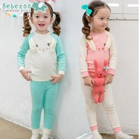 baby bunny outfit - baby boy clothes kids fashion Bunny Cotton Clothing Set Toddler Outfits Korean Cartoon Long Sleeve Tops Long Pants Casual Children Sets Z031