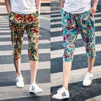 beautiful men legs - Casual pants men s new men broken beautiful design fashion trend in minutes of pants loose jogging pants