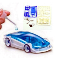 Wholesale New Green Energy Funny Toys Salt Water Fuel Cell Car DIY Kits Kids Boy Toy limit