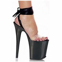 adhesive backed ribbon - 20cm sexy high heel platforms sandals ribbons open toe temptation to shoes inch strappy clear dance shoes black