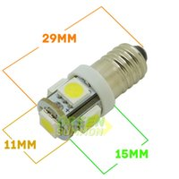 Wholesale NEW bright k E10 SMD LED BULBS MES SCREW TORCH HEADLAMPS