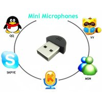 Wholesale Mini USB Microphone Wireless MIC Audio Adapter Driver For PC MSN Notebook Skype New