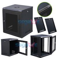 Wholesale Wall Mount Network Server U Data Cabinet Steel mm pillar Door Lock Rack Glass Enclosure Solid construction