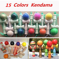 Wholesale DHL Fedex Free New Big size cm Kendama Ball Japanese Traditional Wood Game Toy Education Gift Children toys colors