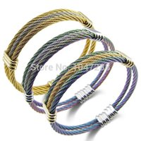 alloy spring steel wire - 2015 New Spring Steel Wire Fashion Jewelry Gift New Trendy Colorful Plated Charm Bracelets Bangles Women Men Jewelry