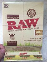 Cheap PUREST Organic RAW Rolling Papers King Size Slim Fibers Cigarette Rolling Papers Natural Unrefined Tobacco Paper Smoking Papers for 110*44mm