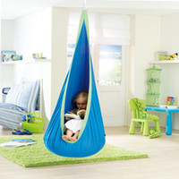 Wholesale 3 pc Hot Sales Child Canvas Swing Chair Indoor Casual Reading Book Tent Outdoor Hanging Inflatable Seat Kids Hammocks Hanging Chair Gift DHL