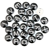 Wholesale 18MM Letter Snap Button Mixed Styles DIY Snaps Charms Jewelry Fit Bracelet Bangle Noosa Jewelry Accessories E520L