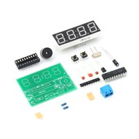 Wholesale New Arrival set Digital Electronic C51 Bits Clock Electronic Production Suite DIY Kits Hot Selling