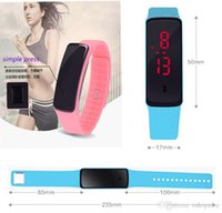 auto silicone wristband - New Arrival Unisex Waterproof LED watches Adjustable Silicone strap Digital Watch sports wristwatches Wristband