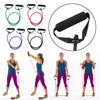 Wholesale Fitness Resistance Band Rope Tube Elastic Exercise for Yoga Pilates Workout
