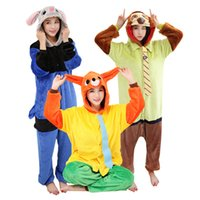 adult animal onesies pajamas - Adult Funny Animal Onesi Pajamas Zootopia Rabbit Judy Costume Flannnel One Piece Sleepwear Couples Homedress Kugurumi Siamese Onesies