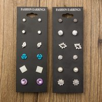 Wholesale Hot Korean fashion wild earrings boxed Many card manufacturers