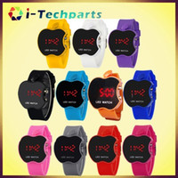 apple shaped candy - Fashion for Apple Shape Bracelet Boys Girls Touch LED Sunglasses Watch Sport Wristband Digital Child Jelly Candy Rubber Silicone Wristwatch