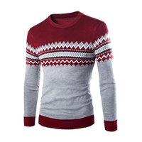 arrival knitwears - Men Male New Arrival Knitted Crewneck Good Selling Pullover Sweater Knitwears Navy Blue Red Dark Gray