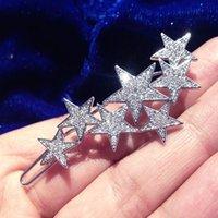 Rhinestone/Crystal antique rhinestone pin - 2016 Blingbling Silver Golden Crystal Stars Wedding Bridal Tiaras Pearl Hair pins Bridal Accessories headpieces for wedding