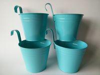 big planters - Price Big Size CM pure garden bucket flower pots planters metal Hanging Planter