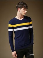 Wholesale Fashion Men Tommy Hilfige Famous Knitted Sweaters Crew Neck Designer Long Sleeve Pullover Men s Clothing Slim Fit Brand Winter Sweater O2013