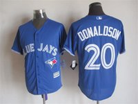 Wholesale 20 Josh Donaldson Jersey Toronto Blue Jays Jerseys Baseball jerseys Cheap Athletic Outdoor Apparel Stitched Name and Logo Red white blue