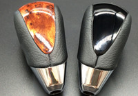 Wholesale TOYOTA Automobile With Electroplate Leather And Peach Wood Gear Shift Knob Gear Handball Modified Car Stalls Head