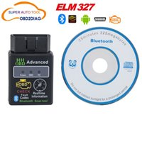 Wholesale Super MINI HH ELM327 Bluetooth HH OBD ELM OBDII OBD2 Car Diagnostic Tool Works on Android Symbian Windows