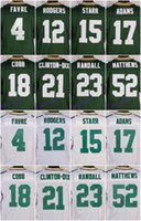 Wholesale 2016 Green football jersey Bay Packers Soccer rugby jerseys Rodgers Matthews Cobb White Navy Alternate freeshipping