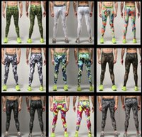 Wholesale Cheap Camo Mens Compression Pants Sports Running Tights Skinny Basketball Running Base Layer Fitness Joggers Leggings Trousers