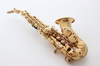 Wholesale French Selmer High pitch Bb Soprano Bend Saxophone curved bell B Flat Saxe Musical Instrument sax Saxofone for Adults children