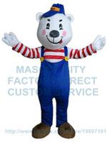 bear pants costume - bear mascot costume blue pant bear custom adult size cartoon character cosply kits carnival costume