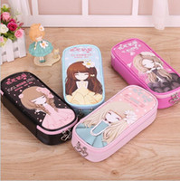 Wholesale kid pencil case Stationery creative cartoon writing case children pencil box