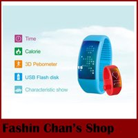 auto run flash drive - W4 U Watch d Pedometer Smart Bracelet Watch GB Multi functional Unisex USB Flash Drive LED Touch Screen Smartband For Running