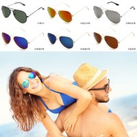 Wholesale Fashion Unisex Aviator Sunglasses Large Metal Aviator Sunglasses RB3025 Outdoor Sun Glasses Colors For Choose