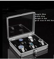 Wholesale Grids Slots Leather Jewelry Watch Display Case Box Storage Organizer New JCW70