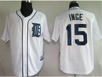 authentic tigers jersey - New MLB Detroit Tigers Brandon Inge Men Baseball Jersey Authentic Stitched Baseball Shirt White grey black MLB baseball jerseys