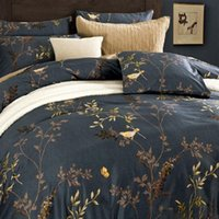 Wholesale Fashion European Style Royal Floral Bedding Sets Bedlinen King Queen Full Size Fitted Flat Home Textile Luxury No Filler