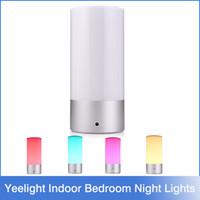 Wholesale Xiaomi Yeelight Indoor Bedroom Night Lights Bedside Lamp Million RGB Touch Control Support Smart Phone App Controller