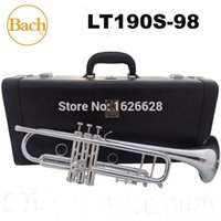 bach trumpet mouthpieces - New Bach Brass Trumpet LT190S Bb Silver Plated Trompeta Profissional Instrumentos Case Mouthpiece