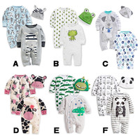 Wholesale Romper Sleepsuit Baby rompers Cartoon crocodile Panda baby clothes Baby boys clothing bodysuit cotton quality
