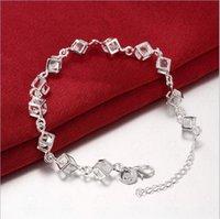 Bracelet Zircon 925 Silver Chain Bracelet Europe Style Plaquage 925 Argent Infinity Bracelets Bracelets Accessoires Bijoux