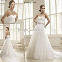 beaded j - Ronald J Priscilla A Line Sweetheart Beaded Wedding Dress Bridal Gown HS188